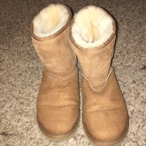 brown ugg boots with fur